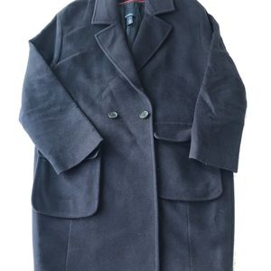 Hilfiger Collection Navy Wool Coat